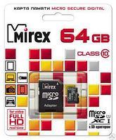 Карта памяти microSDХC с адаптером MIREX 64GB UHS-I, class 10
