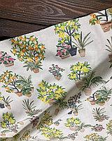 Ткань с цветочным принтом и тефлоновой пропиткой для скатертей, фартуков, подушек, уличных штор
