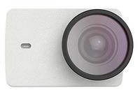 Кожаный чехол + защитная линза для экшн-камеры Xiaomi Yi 4K White Original