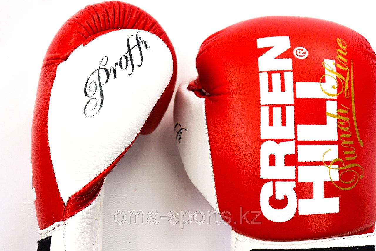 Бокс перчатки шнурок GREEN HILL