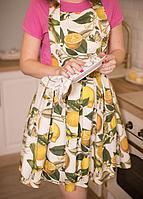 Ткань с принтом из лимонов для скатертей, салфеток и фартуков