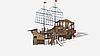 Детский игровой комплекс «Флагман» ДИК 2.03.3.03-01 H=1200 H=1500 H=2000, фото 2