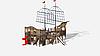 Детский игровой комплекс «Флагман» ДИК 2.03.3.03-01 H=1200 H=1500 H=2000, фото 3
