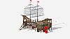 Детский игровой комплекс «Флагман» ДИК 2.03.3.03-01 H=1200 H=1500 H=2000, фото 4