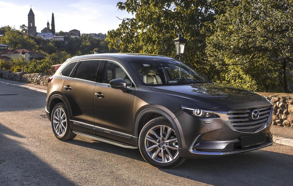 """Пороги """"Premium"""" Mazda CX-9 (2017-2021)"""