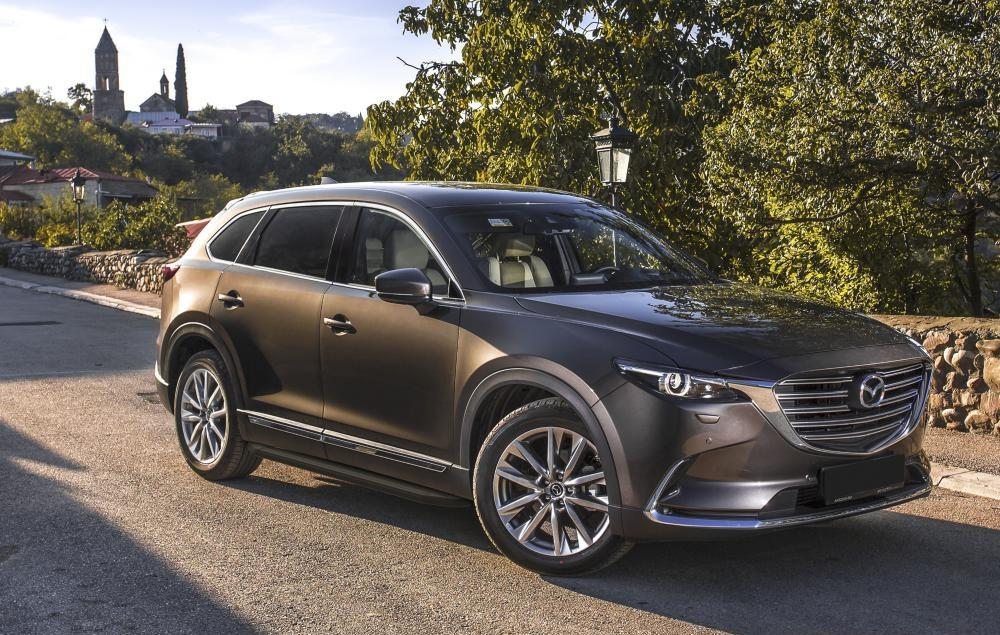 """Пороги """"Premium-Black"""" Mazda CX-9 (2017-)"""