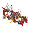 Детский игровой комплекс «Баркетина» ДИК 2.03.3.06 Н=1200 Н=1500 Н=2000, фото 3