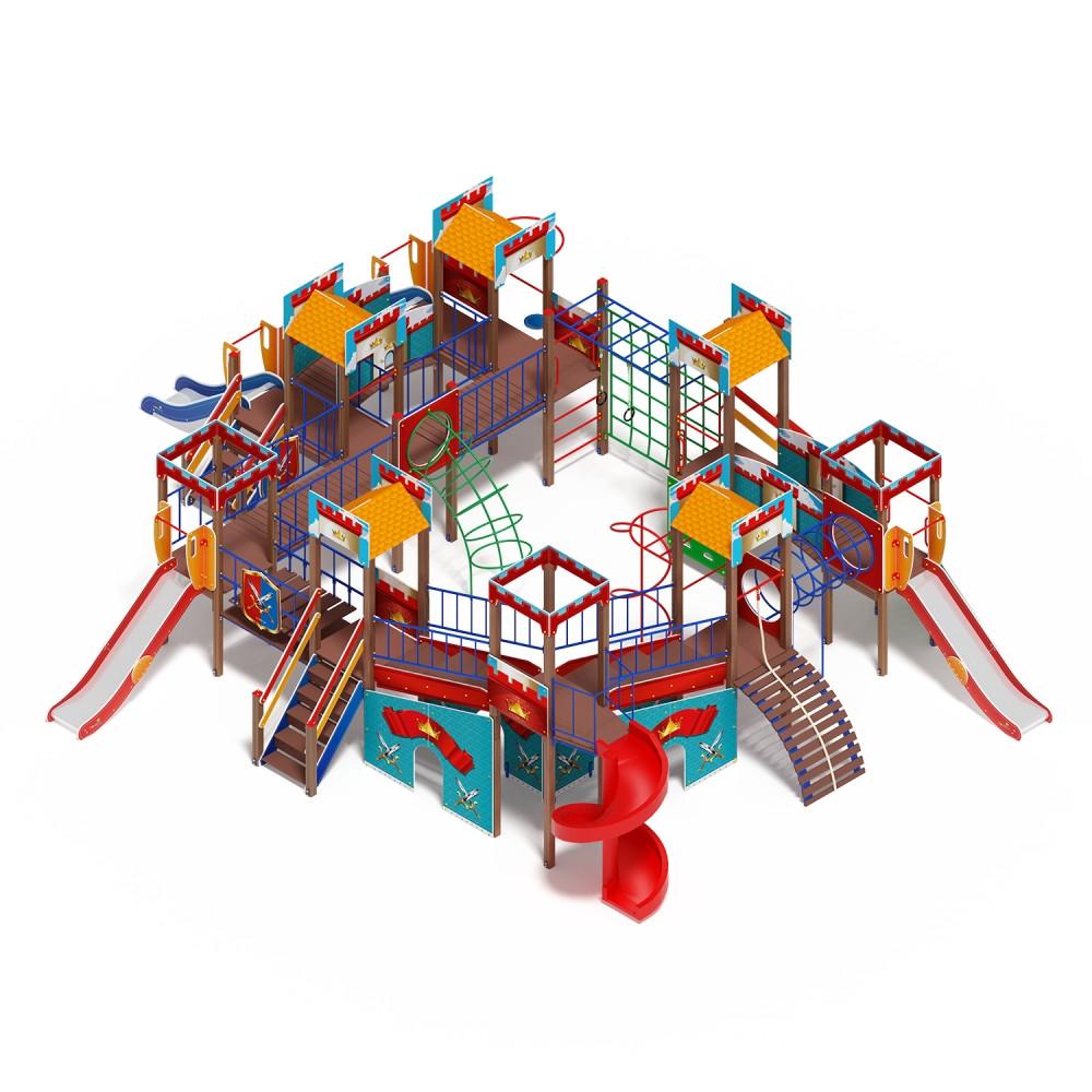 Детский игровой комплекс «Замок» ДИК 2.18.12-01 (винтовой скат) H=2000 H=1200 H=900