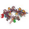 Детский игровой комплекс «Замок» ДИК 2.18.12-01 (винтовой скат) H=2000 H=1200 H=900, фото 2