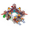 Детский игровой комплекс «Замок» ДИК 2.18.12-01 (винтовой скат) H=2000 H=1200 H=900, фото 3