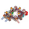 Детский игровой комплекс «Замок» ДИК 2.18.12-01 (винтовой скат) H=2000 H=1200 H=900, фото 4