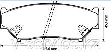 Тормозные колодки YOTO G-176(MD 9019M)(REMSA 389.02)