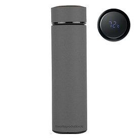 Термос soft-touch, MARK LED Серый