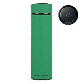 Термос soft-touch, MARK LED Темно-зеленый