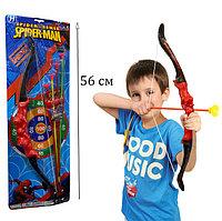 Игрушечный набор лук и стрелы с чехлом с Человеком Пауком Spider man No.668W высота 56 см