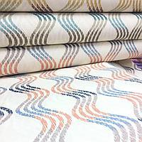 Ткань с принтом волны и тефлоновой пропиткой для скатертей, фартуков, подушек, штор,обивки