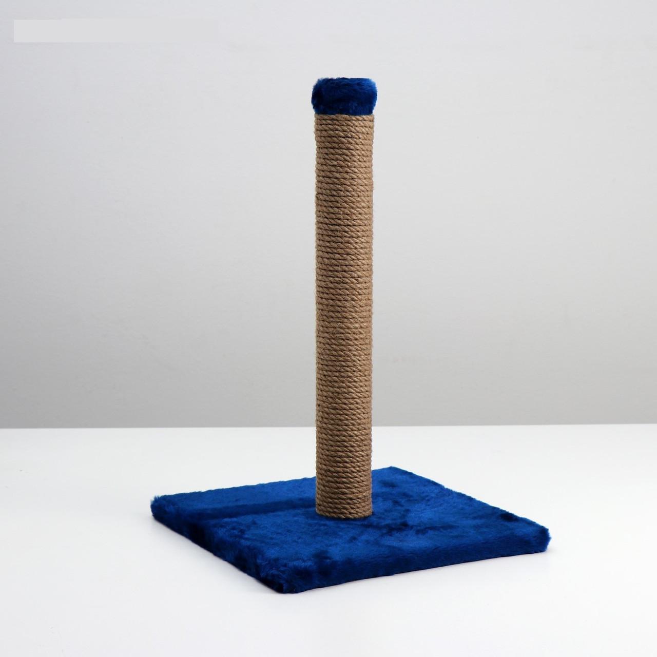 "Когтеточка ""Столбик"" на подставке, 35 х 35 х 55 см микс цветов"