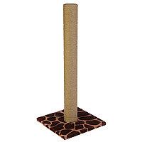 Когтеточка с высоким и толстым столбиком, джут 35 х 35 х 82 см микс цветов, фото 1