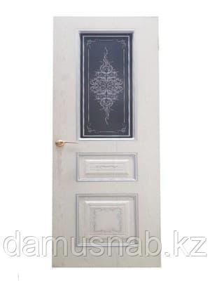 Полотно Леском дверное Экшпон Соната ясень серый/серебро стекло с художественной печатью 80