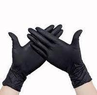 Перчатки нитровинил, неопудренные (UN) черный L размер, 100 шт