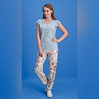 Пижама женская S/42-44, Голубой