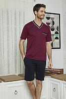 Пижама мужская L/48-50, Бордовый