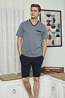 Пижама мужская 2XL/52-54, Синий меланж