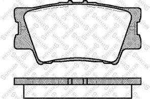 Колодки Stellox 1242 000B-SX задние Toyota Camry (V40) 06>, RAV 4 III (A3) 05>