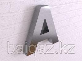 Объёмные буквы из стали без подсветки