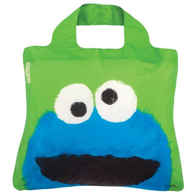 Женская модная сумочка авоська.Sesame Street Bag 3 ( Cookie Monster ). Envirosax