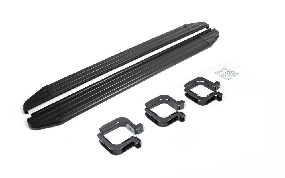 """Пороги """"Premium-Black"""" Mitsubishi Pajero Sport (2008-2016)"""