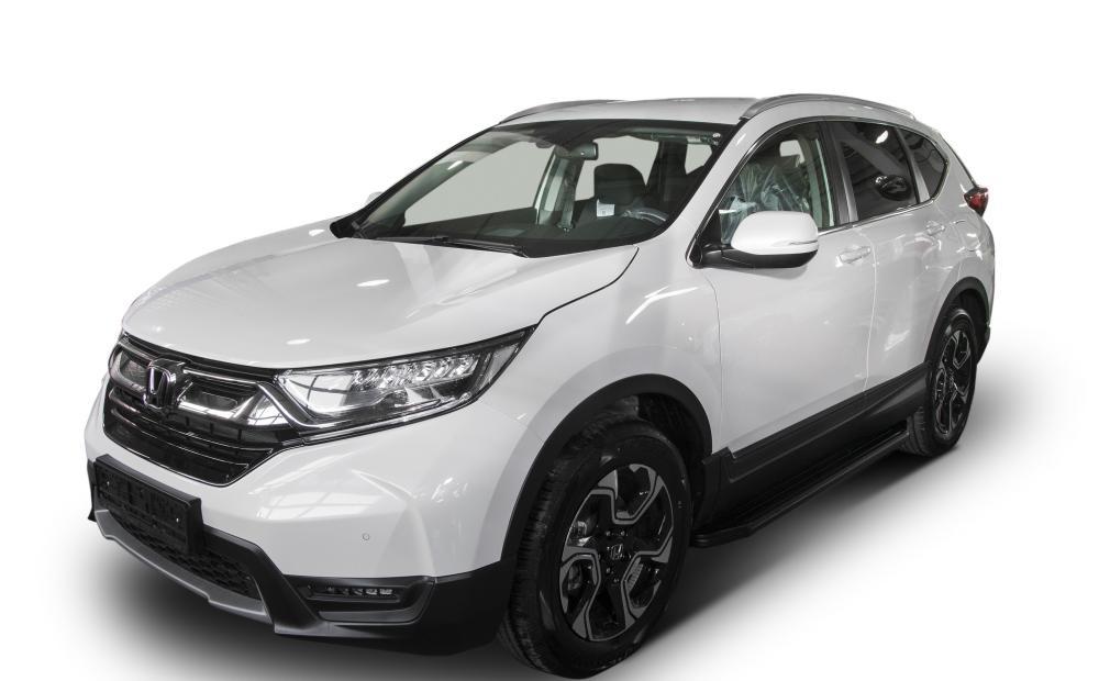 "Пороги ""Premium-Black"" Honda CR-V, 5-е поколение  (2017-)"