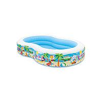 Детский надувной бассейн Swim Center Seashore 262 х 160 х 46 см, Intex, 56490NP