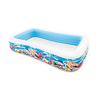 Детский надувной бассейн Sea Life Swim Center 305 х 183 х 56 см, Intex, 58485NP