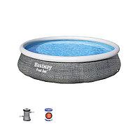 Семейный надувной бассейн Fast Set 396 х 84 см Bestway 57376