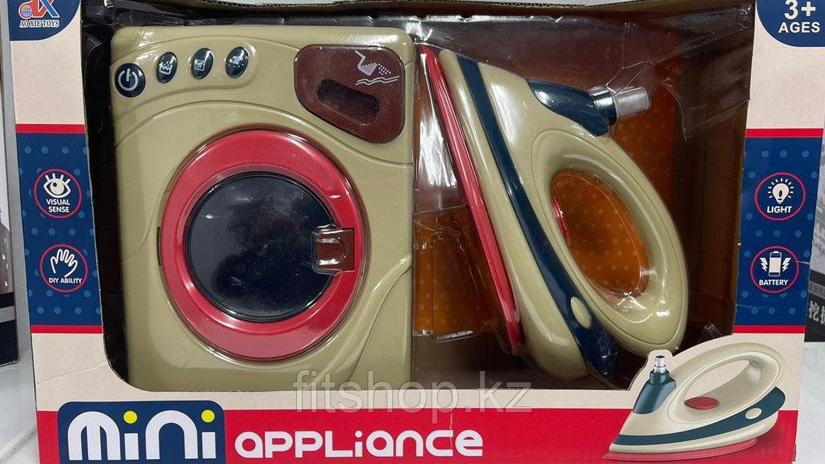 Детский игровой набор  стиральная машина и утюг игрушки электромеханические