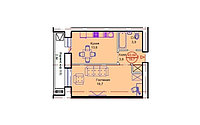 """1 комнатная квартира в ЖК """"Сапсан"""" 43.84 м², фото 1"""