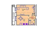 """1 комнатная квартира в ЖК """"Сапсан"""" 51.4 м², фото 1"""
