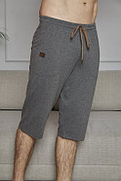 Капри домашние мужские XL/50-52, Светло-серый меланж