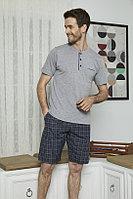 Пижама мужская L/48-50, Светло-серый