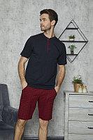 Пижама мужская 5XL/58, Тёмно-синий