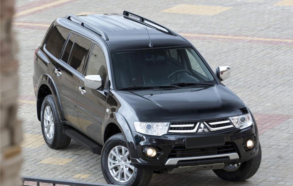 "Пороги ""Black""  Mitsubishi Pajero Sport (2008-2016)"