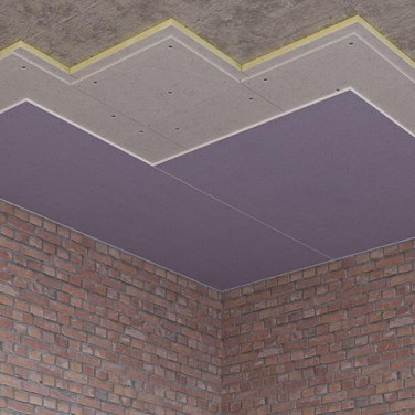 Монтаж бескаркасной звукоизоляции потолка