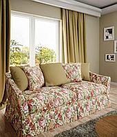 Ткань с цветочным принтом и тефлоновой пропиткой для скатертей, фартуков, подушек, штор,обивки