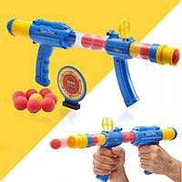 Игровой набор шаровая винтовка с прицепом и 8 шариков для метаний с мишенью Air Gunman2 Dong Xiang