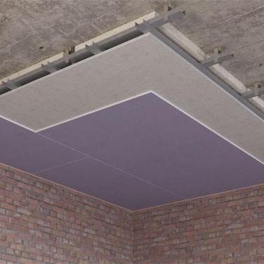 Монтаж каркасной звукоизоляции потолка