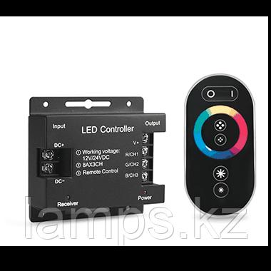 Контроллер для RGB 288W 24А с сенсорным пультом управления цветом (черный), фото 2