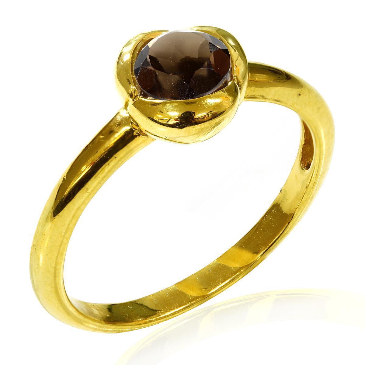 Кольцо с Раух Топазом. Италия