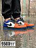 Кеды Nike Jordan низк чер бел оранж син пятка