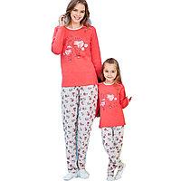 Пижама детская девичья 2/92 см, Гранатовый
